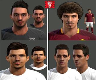 Faces: Alexis Sanchez, Emre Belozoglu, Emre Metin, Salih Ucan, Pes 2013