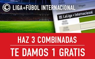 sportium Fútbol: Haz 3 Combinadas recibe 1 Gratis 2 septiembre