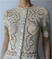 wzór sukienki szydełkiem - filet