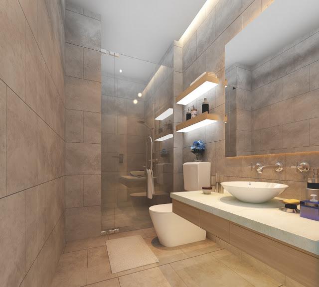 Nhà vệ sinh tại dự án Imperia Sky Garden