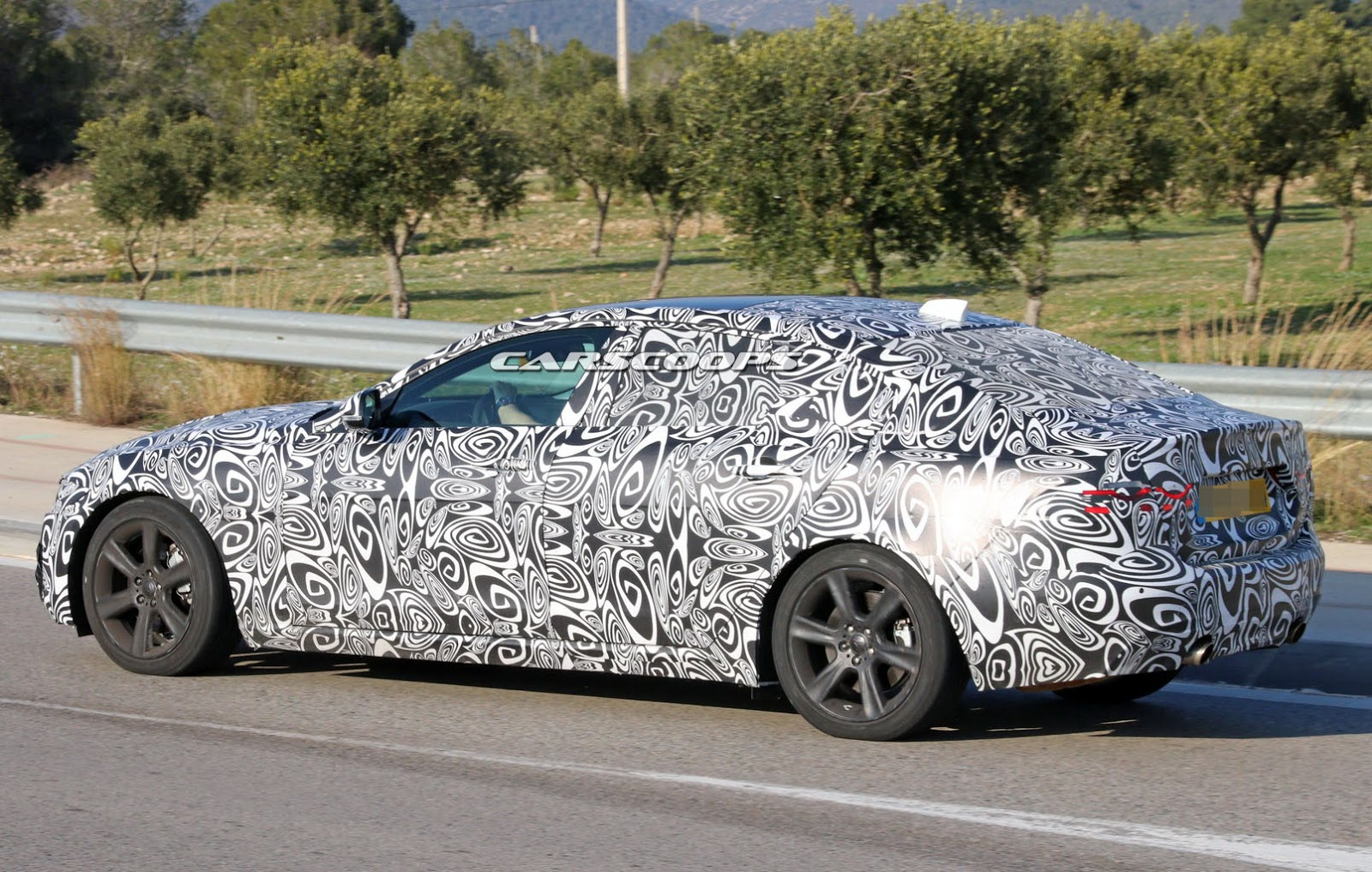 mysterious jaguar xf test car spied  but what is it exactly