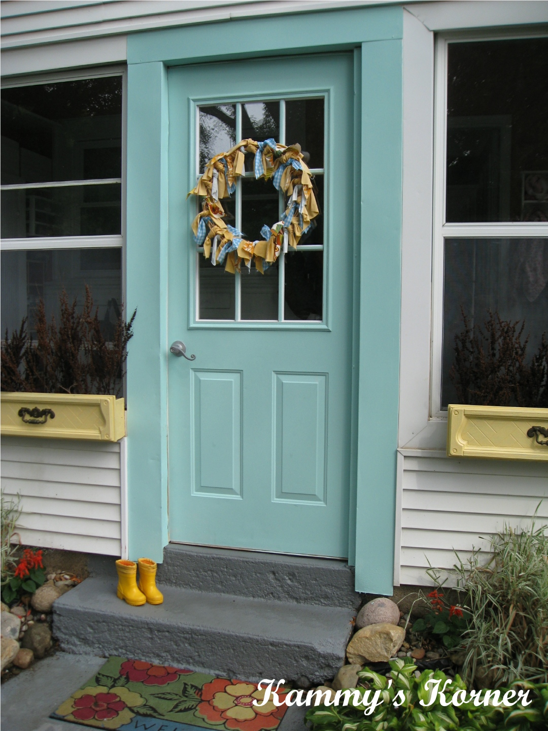 Kammy 39 s korner my outdoor aqua door - Used exterior doors for sale near me ...