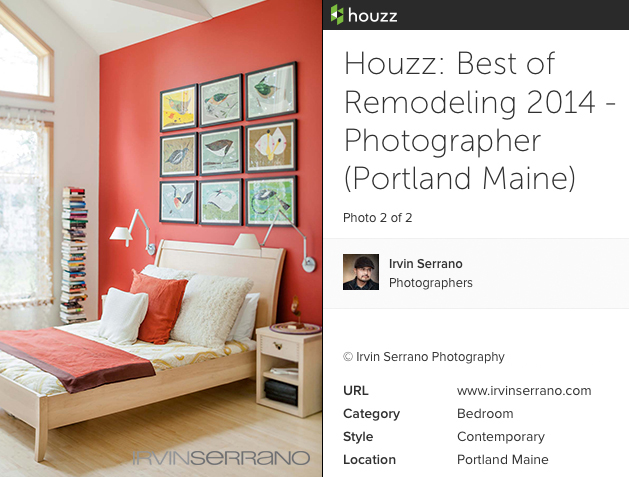 Commercial photograph of residential interior in Portland, Maine voted Best of Remodeling.