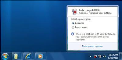 Cara Mudah Mengatasi Baterai Laptop Yang ada Tanda Silang Merah