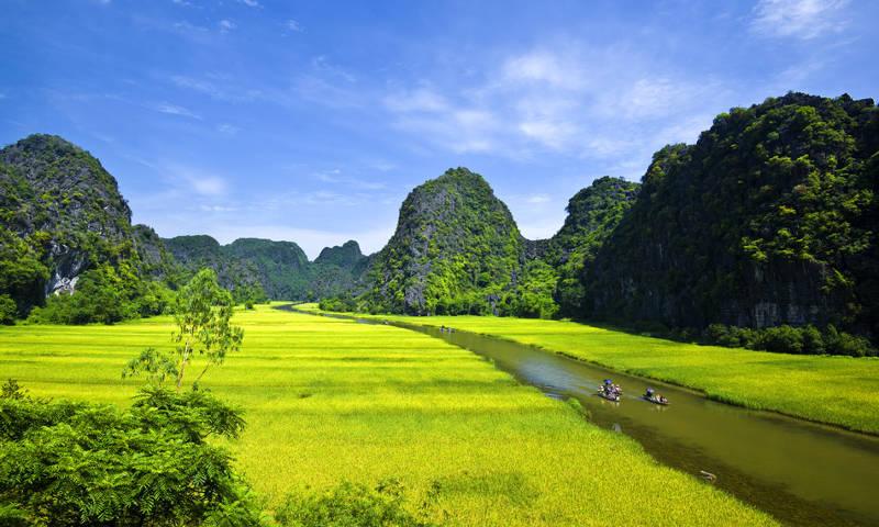 Río Tam Coc, Ninh Binh (Vietnam)