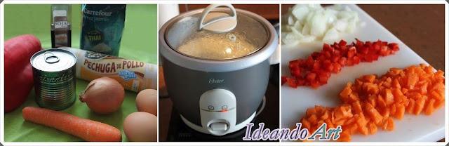 Ingredientes receta arroz
