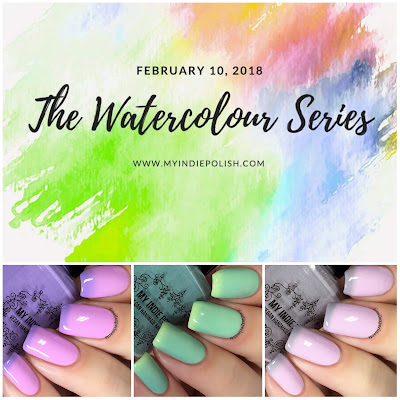 my indie polish the watercolour series review