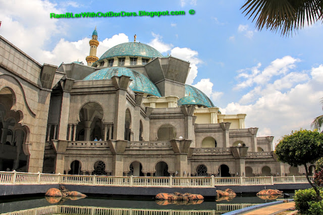 Moat, Wilayah Mosque, KL, Malaysia