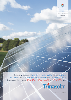 contrato firmado entre Cuevas y Montoto Consultores y Trina Solar