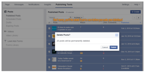 How To Mass Delete Facebook Posts