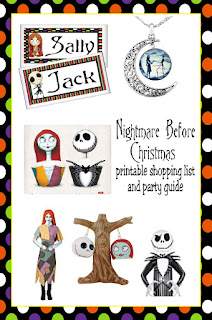 Make sure you don't miss a thing this Halloween with this Nightmare Before Christmas free printable shopping list and party ideas.  You'll find all the Halloween party ideas in one place as well as a super cute list to keep all the essentials on.