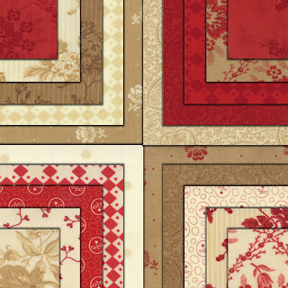 Moda MIDWINTER REDS Quilt Fabric by Minick & Simpson