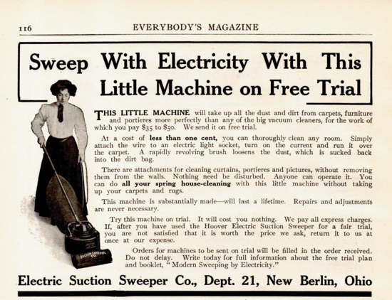 Hoover advertising 1909