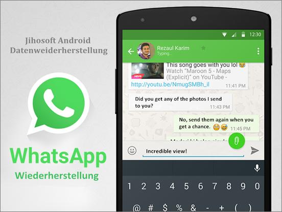 Kann man gelöschte chats bei whatsapp wiederherstellen iphone