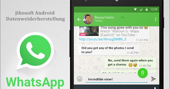 whatsapp chatverlauf weg