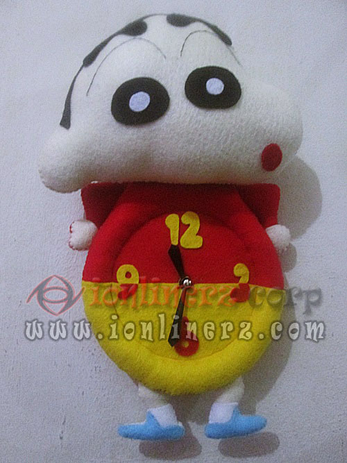 Jam Dinding Flanel Karakter Kartun Boneka Crayon Shinchan