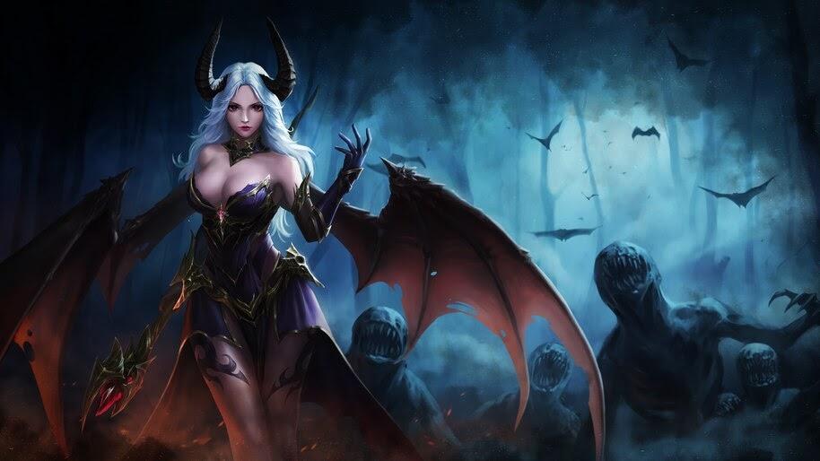 Fantasy, Demon, Girl, 4K, #4.619