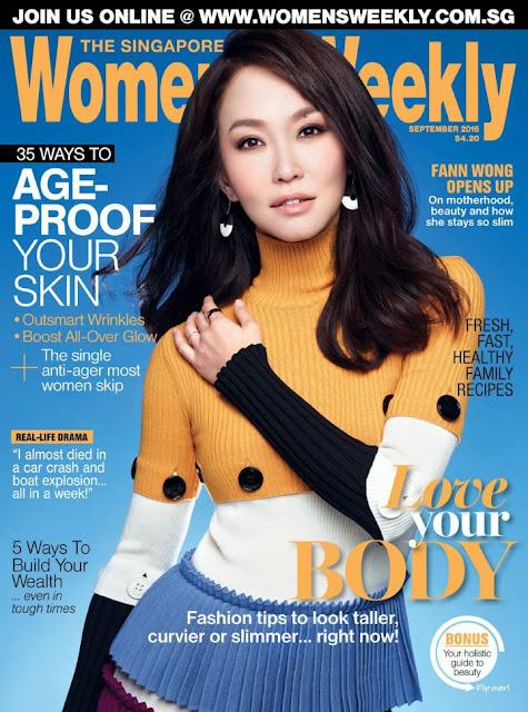 Actress, Singer, Model, @ Fann Wong - The Singapore Women's Weekly, September 2016