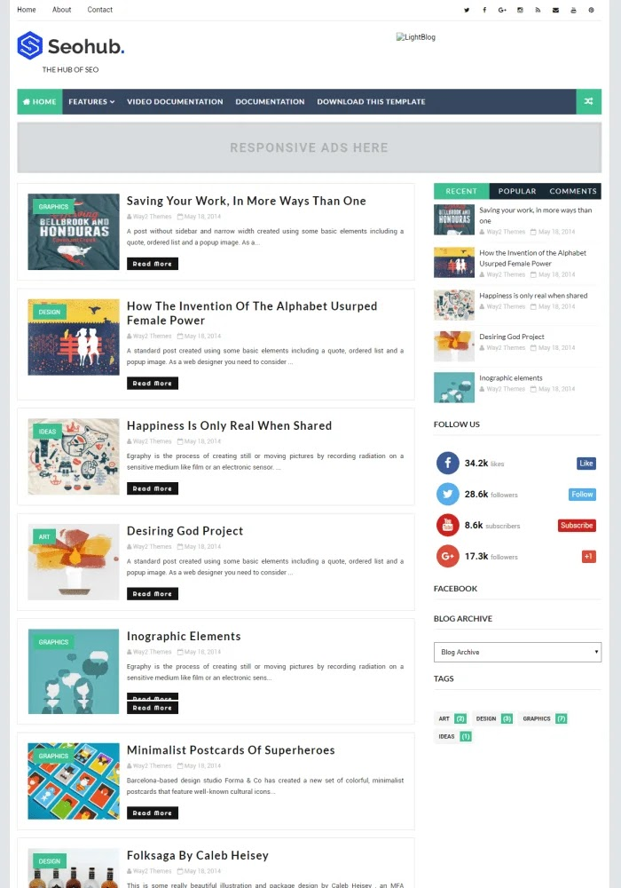 Top 17 Amazing Responsive Blogger Templates 2019 Professional