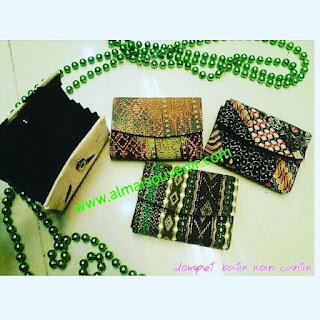souvenir jogja dompet batik koin cantik