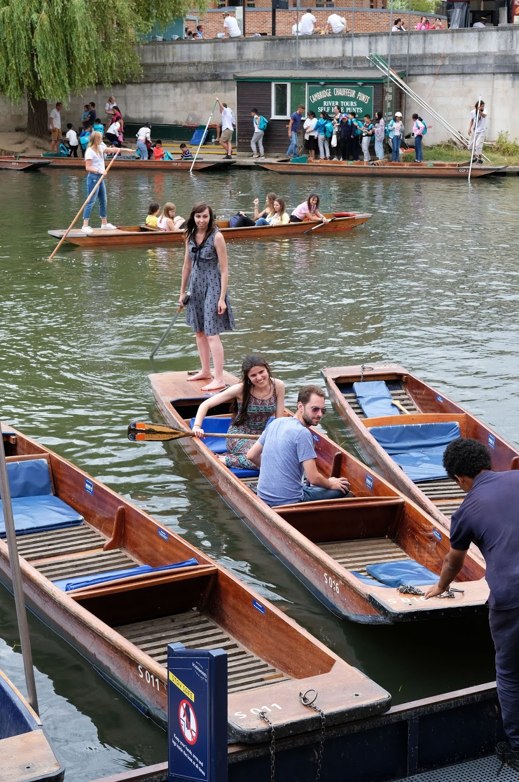 Arriving back at Scudamore's Boatyard after 2 hours of punting on the River Cam