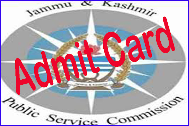 JKPSC Lecturer & Medical Officer Admit Card