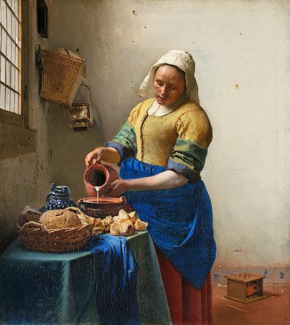 Johannes Vermeer – The Milkmaid [De Melkmeid, 1658-60]