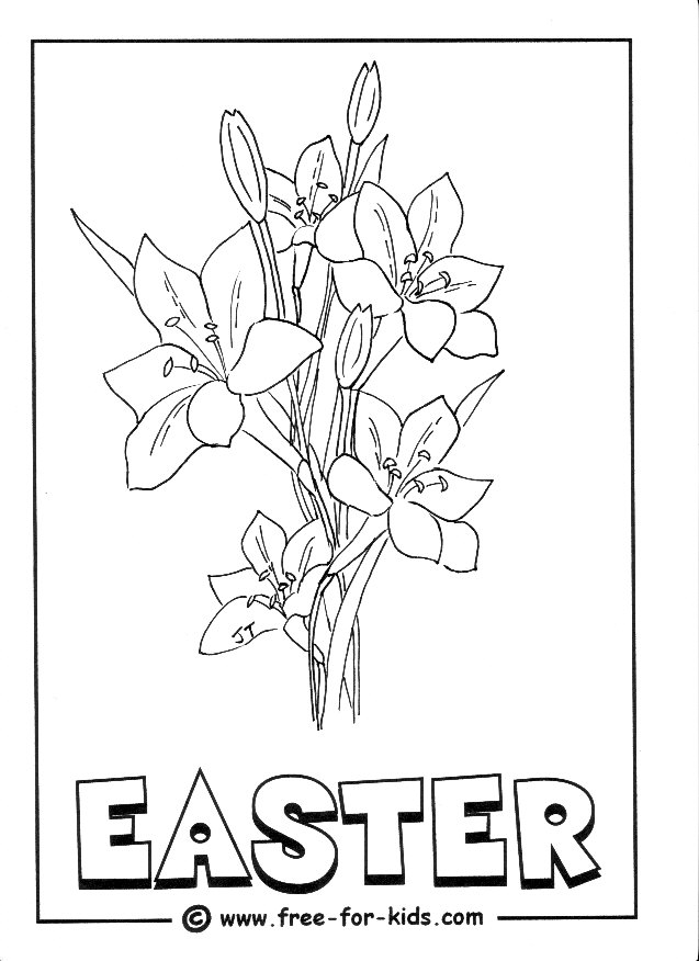easter lily coloring pages - photo#14