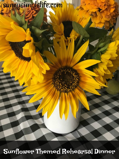 sunflower wedding decorating ideas