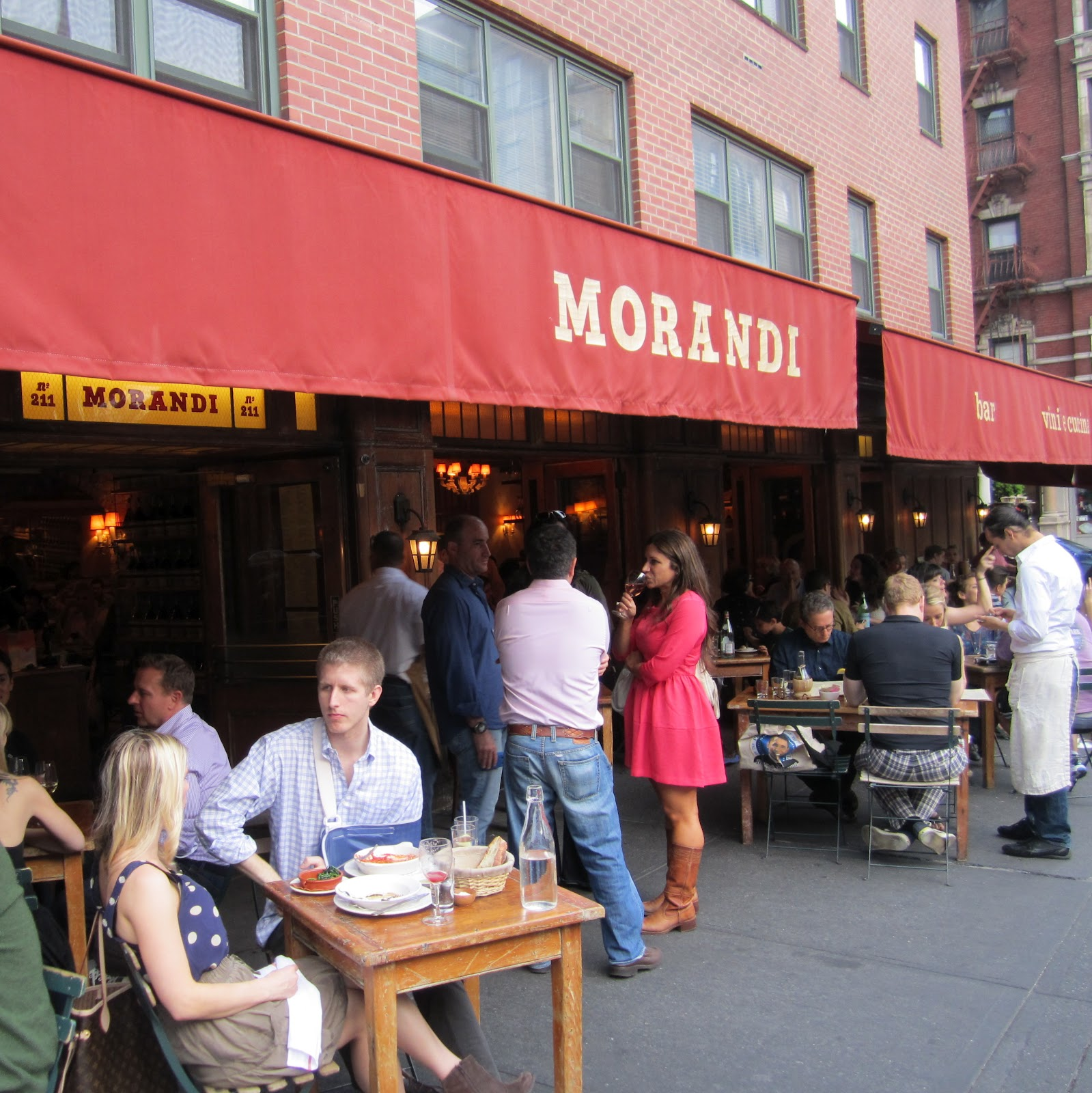 Al Fresco Dining At Morandi In The West Village