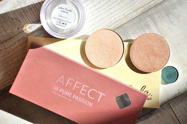 paletka cieni affect, paletka cieni glamshop, puder glamshop, prasowany pigment glamshop, rozświetlacze glamshop