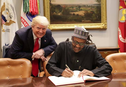 buhari visit donald trump