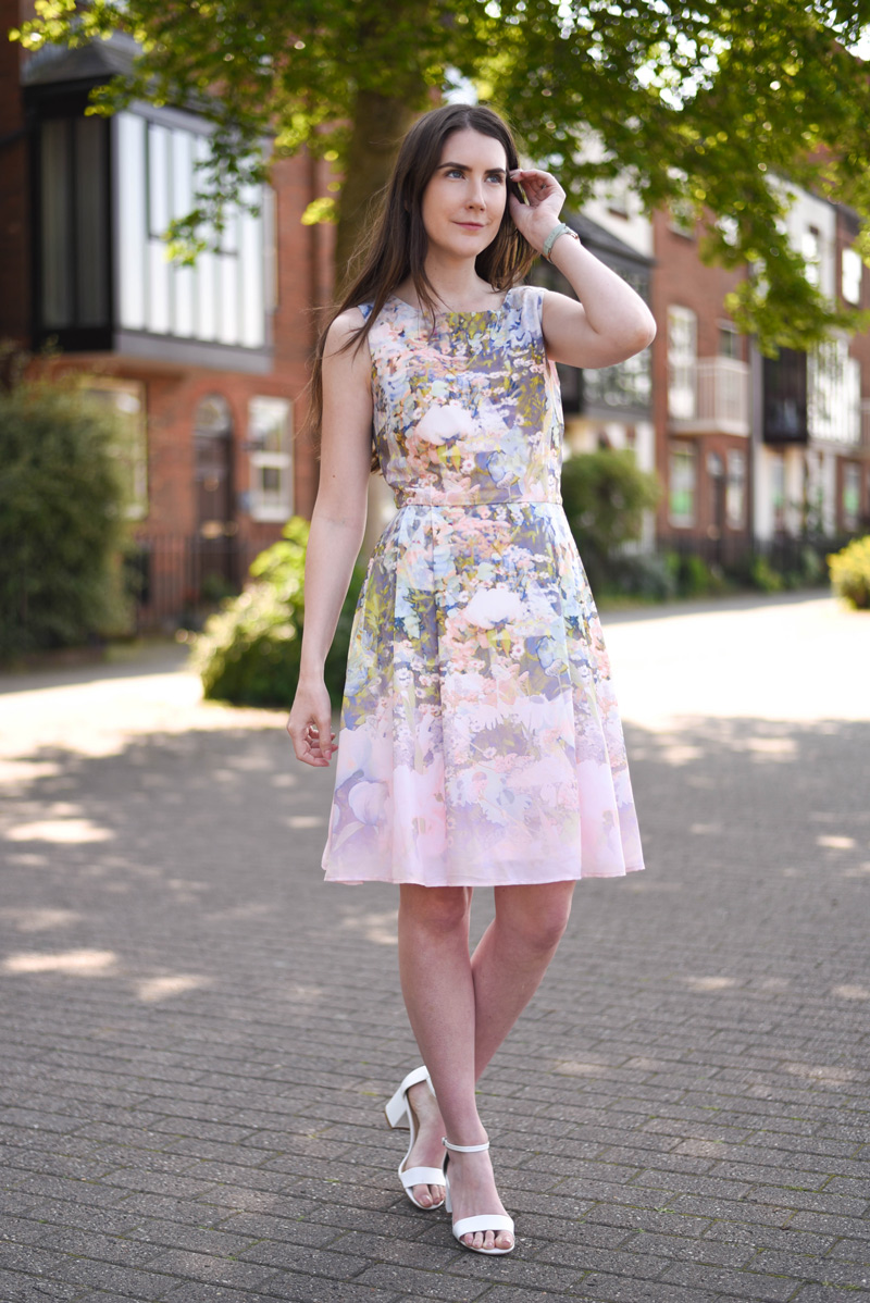 Sugarhill Hatty Wild Flower Dress + Olivia Burton