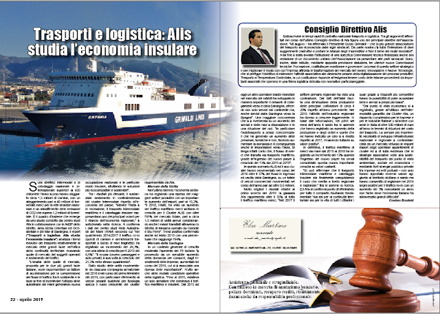 APRILE PAG. 22 - Trasporti e logistica: Alis studia l'economia insulare