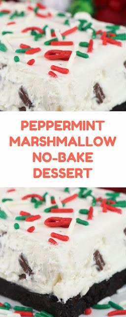 Peppermint Marshmallow No-Bake Dessert
