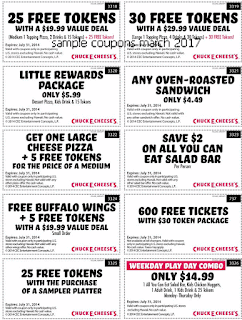 Chuck E Cheese coupons march