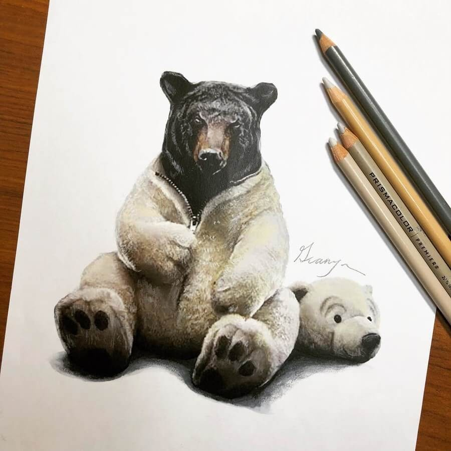 09-Black-Bear-and-Polar-Bear-Guanyu-Animal-Mashup-www-designstack-co