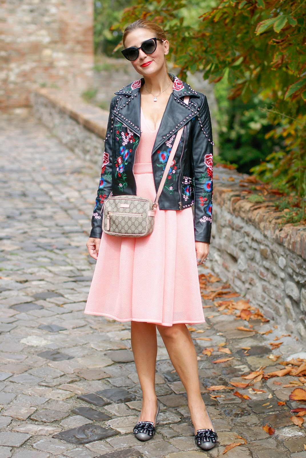 Gucci inspired on a budget embroidered jacket on Fashion and Cookies fashion blog, fashion blogger style