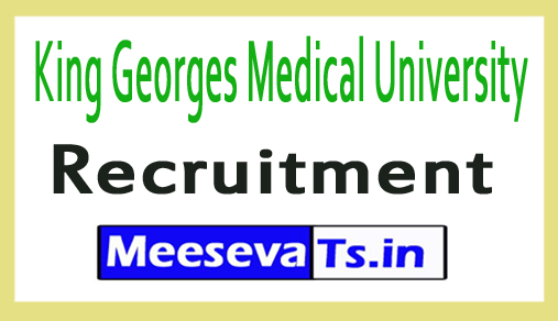 King Georges Medical University KGMU Recruitment
