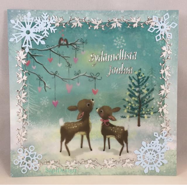 Bambi magic forest Christmas card SapiDesign
