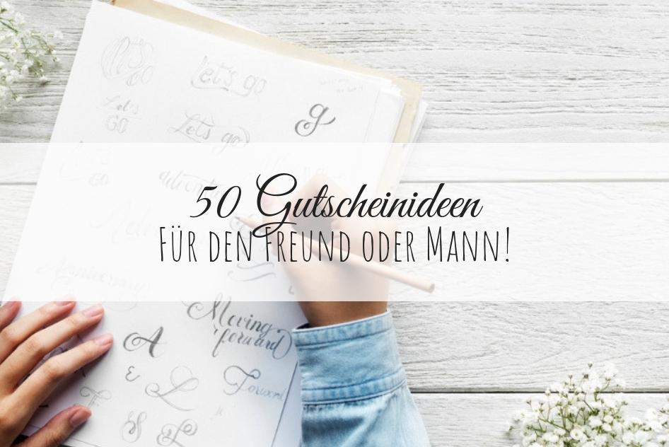 DIY: 50 Gutscheinideen für euren Freund / Partner oder Mann