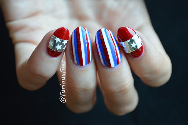 nail stickers, american nails, american flag, independence nails