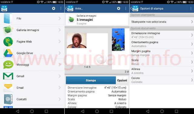 App Android iOS Happy2print selezione file da stampare