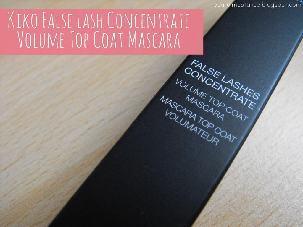 Kiko False Lashes Concentrate Volume Top Coat Mascara