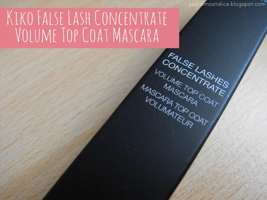Kiko False Lashes Concentrate Volume Top Coat Mascara