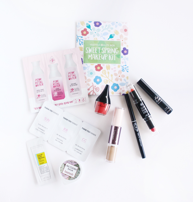 YESSTYLE Korean Beauty Box, YesStyle Sweet Spring Makeup Kit, Asian Beauty, K-beauty, Asian Beauty Box,YESSTYLE review Beauty Box Review, #YesStyle #YSBeautyBox17
