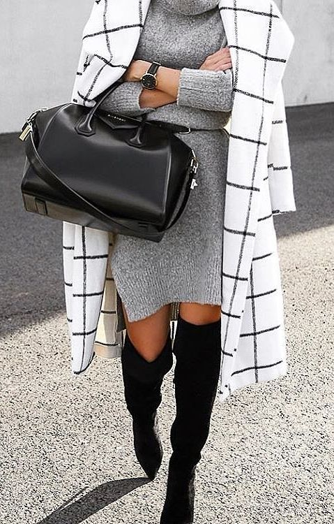 Sweater weather dress for cold business days