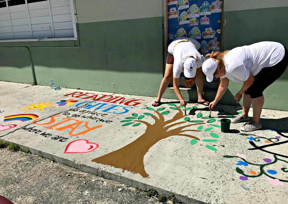 painting a school for the Sandals Foundation