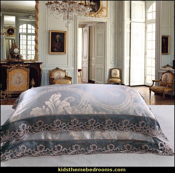 luxury bedding  Jacquard Luxury Bedding Luxury bedroom designs - Marie Antoinette Style theme decorating ideas - French provincial furniture baroque style - Louis XVI furniture - Rococo furniture - baroque furniture - marie antoinette bedroom ideas - marie antoinette bedroom furniture - luxury bedding -  luxury curtains - luxury dining - luxury furniture - luxury living