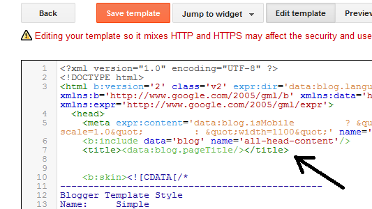 How to Add HTML Meta Tags and Keywords to Blogger Blog's